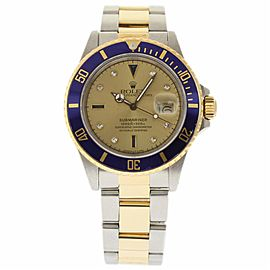 Rolex Submariner 16803 Stainless Steel & Yellow Gold Automatic 40mm Mens Watch