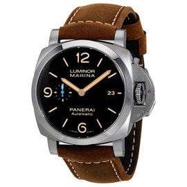 Panerai Luminor PAM01351 Titanium & Leather Automatic 44mm Mens Watch