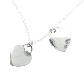 Tiffany & Co. 925 Sterling Silver Return to Tiffany Hearts Pendant Necklace