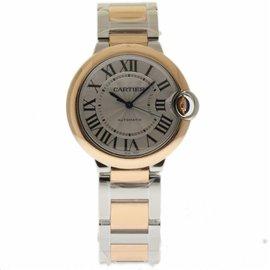 Cartier Ballon Bleu W2BB0003 Stainless Steel & 18K Rose Gold Automatic 36mm Womens Watch