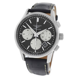 Longines Column-Wheel Chronograph L27494920 Stainless Steel Automatic 40mm Mens Watch