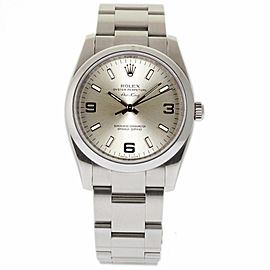 Rolex Air-King 114200 Stainless Steel Silver Index Dial Automatic 34mm Unisex Watch