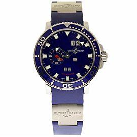 Ulysse Nardin Marine 333-77-7 Stainless Steel Aqua Limited Edition 42.7mm Mens Watch