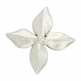 Tiffany & Co. 925 Sterling Silver Rare Petal Flower Pin Brooch