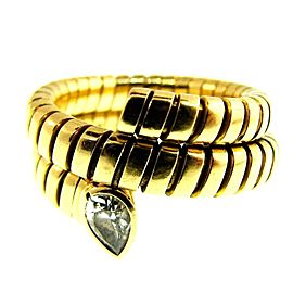 Bulgari 18K Yellow Gold & Diamond Tubogas Snake Vintage Ring