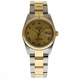 Rolex Datejust 16203 Stainless Steel / 18K Yellow Gold Automatic 36mm Mens Watch