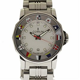 Corum Admirals Cup 039.430.20 Stainless Steel with White Dial 29mm Womens Watch