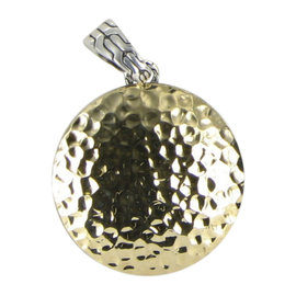 John Hardy Palu Dot Hammered 18K Yellow Gold and Sterling Silver Pendant