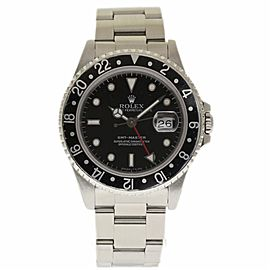 Rolex GMT Master 16700 Stainless Steel with Black Dial Automatic 40mm Mens Watch