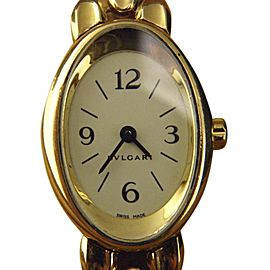 Bulgari Bvlgari Oval OV 27 G 18K Yellow Gold Quartz 23mm Womens Watch