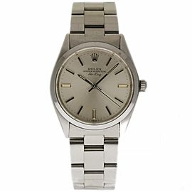 Rolex Air-King 5500 Stainless Steel with Silver Index Vintage 34mm Unisex Watch