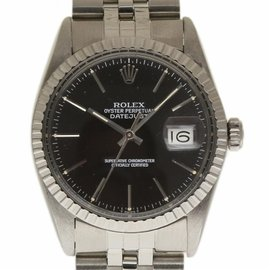 Rolex Datejust 16030 Stainless Steel with Black Dial Vintage 36mm Mens Watch