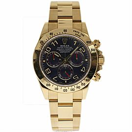 Rolex Daytona 116528 Yellow Gold with Blue Dial 40mm Mens Watch