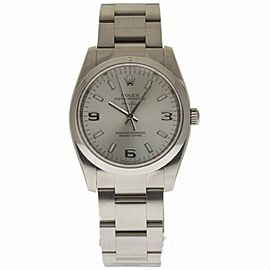 Rolex Air-King 114200 Stainless Steel with Silver Index Dial 34mm Unisex Watch