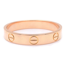 Cartier Mini Love 18K Rose Gold Ring Size 8.25