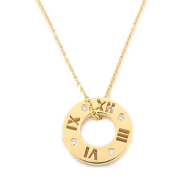 Tiffany & Co. Atlas 18K Yellow Gold & Diamond Necklace