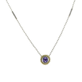 Lagos Color Caviar 18K Yellow Gold & 925 Sterling Silver with Amethyst Necklace