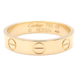Cartier Mini Love 18K Yellow Gold Ring Size 10.5