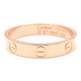 Cartier Mini Love 18K Rose Gold Ring Size 6.5