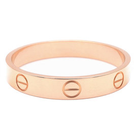 Cartier Mini Love 18K Rose Gold Ring Size 10