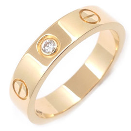 Cartier Mini Love 18K Yellow Gold with Diamond Ring Size 4.5