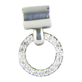 Lagos Enso 925 Sterling Silver with 0.32ct Diamond Circle Pendant