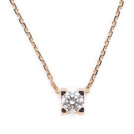 Cartier C de Cartier 18K Rose Gold with 0.23ct. Diamond Pendant Necklace