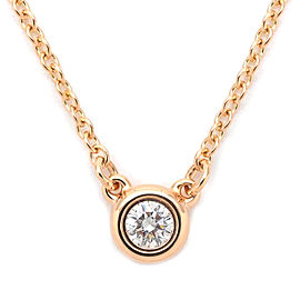 Tiffany & Co. Elsa Peretti 18K Rose Gold with Diamond By the Yard Necklace