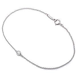 Tiffany & Co. 950 Platinum with 0.08ct Diamond By the Yard Bracelet