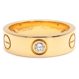 Cartier Love 18K Yellow Gold Ring Size 6