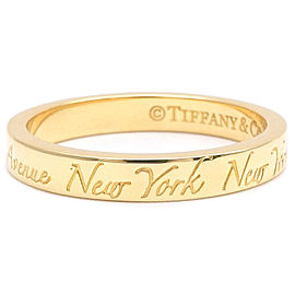 Tiffany & Co. 18K Yellow Gold Narrow Band Ring Size 5