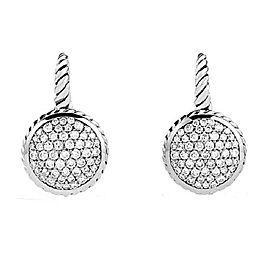 David Yurman 925 Sterling Silver with 1.01ct Diamond Drop Earrings