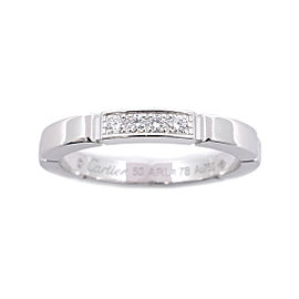 Cartier Maillon Panthere Ring 18K White Gold with Diamond Size 5.5