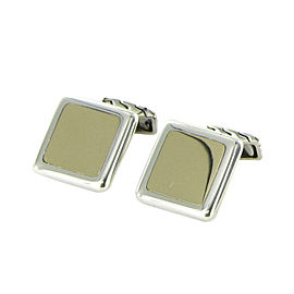 John Hardy Classic Chain 925 Sterling Silver & 18K Yellow Gold Cufflinks