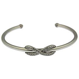 Tiffany & Co. 18k White Gold & Diamond Infinity Cuff Bracelet