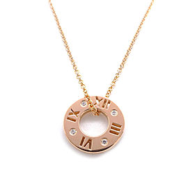 Tiffany & Co. Atlas 18K Rose Gold with 4P Diamond Necklace