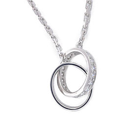 Cartier Baby Love Necklace 18K White Gold with Diamond