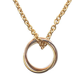 Cartier Baby Trinity Necklace 18K Yellow, White and Rose Gold