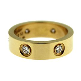 Cartier Love Ring 18k Yellow Gold 6 Diamonds Size 6
