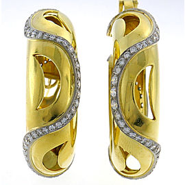 Cartier Hoop Earrings 18K Yellow Gold Diamond
