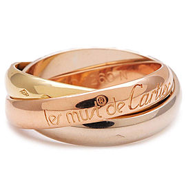 Cartier Trinity Ring 18K White, Rose and Yellow Gold Size 5.75