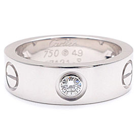 Cartier Love Ring 18K White Gold with Diamond Size 4.75
