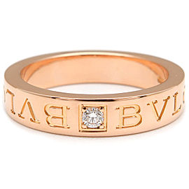 Bulgari Bvlgari 18K Rose Gold with Diamond Ring Size 6.25