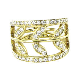 Temple St. Clair Vine 18K Yellow Gold with 1.32ctw Diamond Ring Size 6.5
