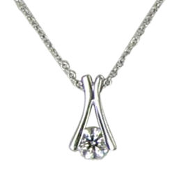 Hearts on Fire Elation 18K White Gold with 0.51cts Diamond Pendant Necklace