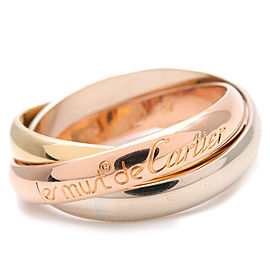 Cartier Trinity Ring 18K Tri-Gold Size 7