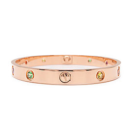 Cartier Love 18K Rose Gold Diamond Bracelet