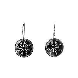 BACCARAT JEWELRY ROCKMANTIC ECLIPSE WIRE EARRINGS STERLING SILVER NEW FRANCE