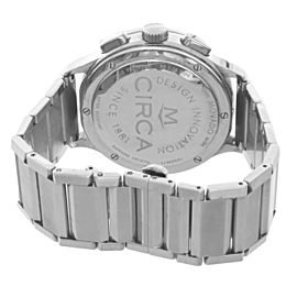 Movado Circa Men's Chronograph White Dial Stainless Steel Watch 35.1.14.1184