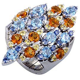 Pasquale Bruni 18K White Gold Sapphire, Topaz, Citrine Ring